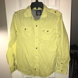 Calvin Klein yellow casual dress shirt